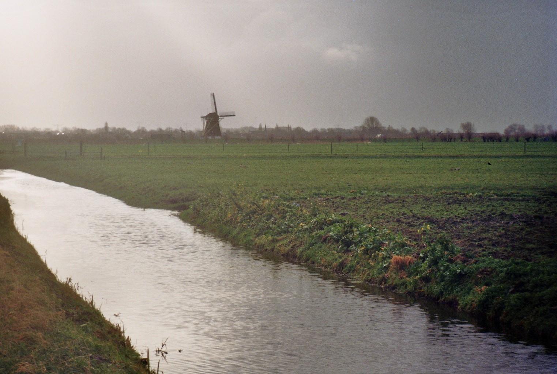 Molen in het Hollandse landschap