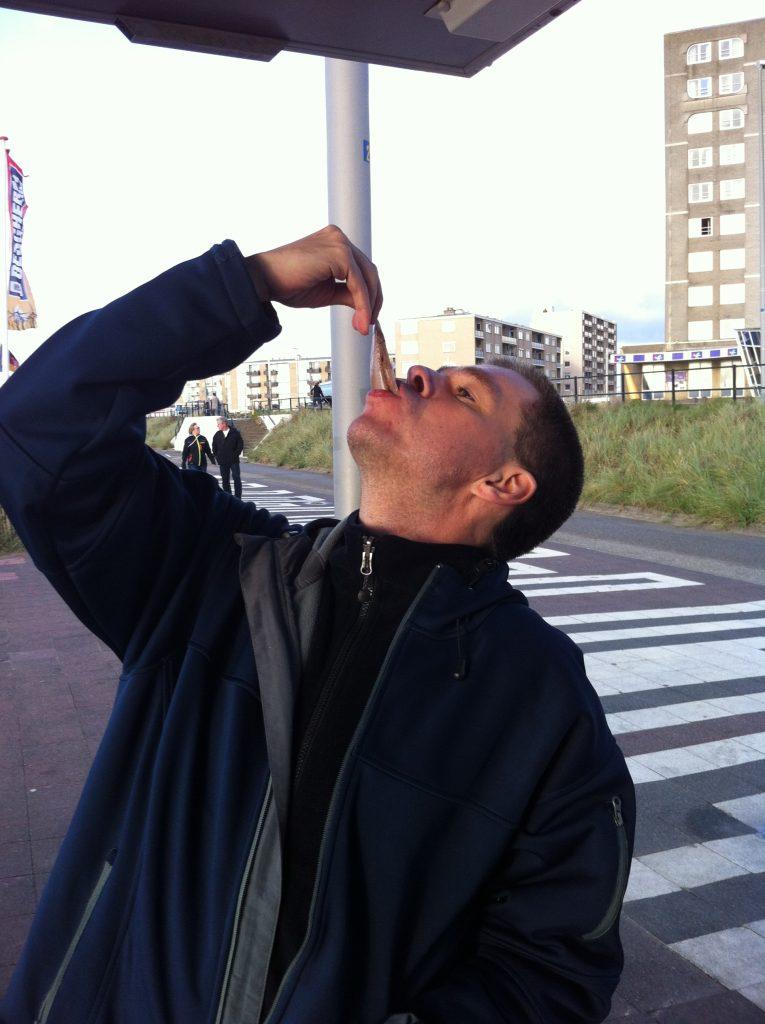 Flintstonesthema. Haring happen in Zandvoort
