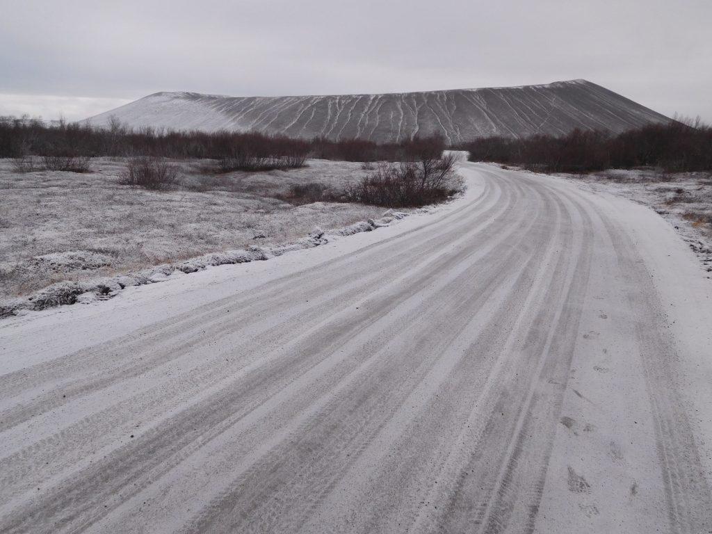 De boot naar IJsland - Hverfjall krater bij Myvatn