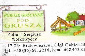 Bialowieza - Zofia - pension Grusza