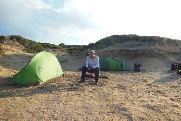 van Dipkarpaz naar Zafer Burnu - kamperen op het strand