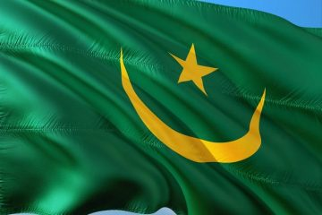 Van Guerguarate naar Nouâdhibou - Grenscursus - vlag Mauritanië