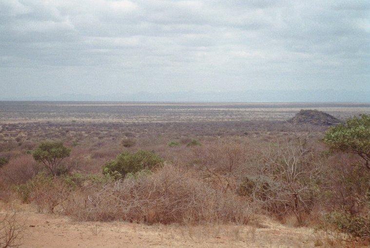 De A2 door de woestijn in Kenia