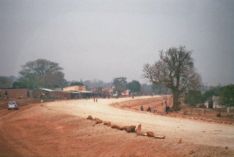 Dorpje in Zambia