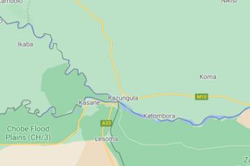 Van Divundu naar Shakawe - Vierlandenpunt